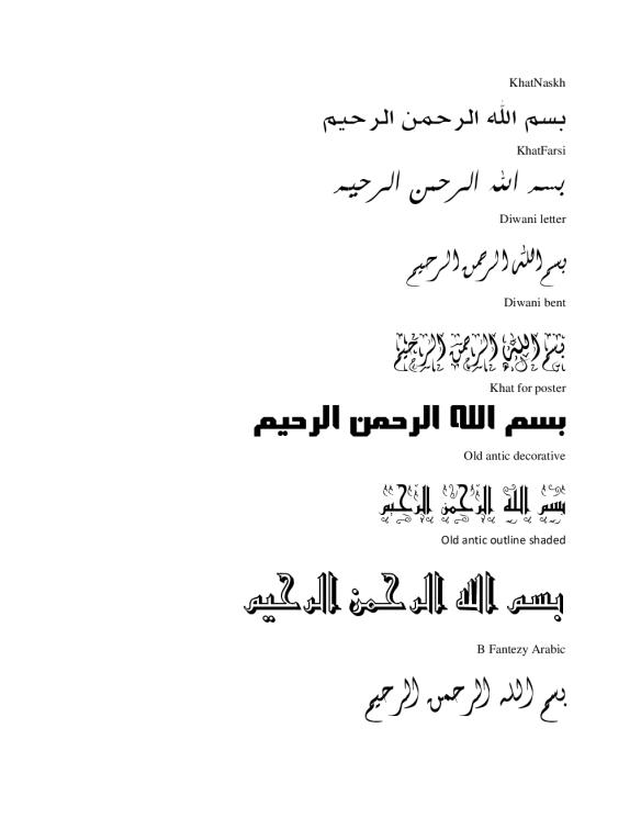 Download Jenis Font Arabic Menarik Catatan Salman